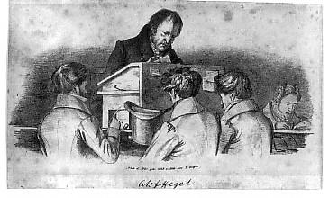 Hegel enseignant à ses élèves