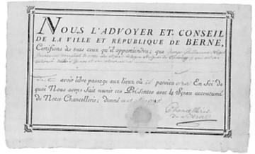 le passeport de Hegel pour Genève