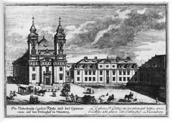 gravure du lycée Aegidiengymnasium à Nuremberg où Hegel enseignait