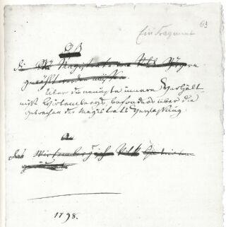 1ère page de l'essai de Hegel sur la condition interne au Wurtemberg