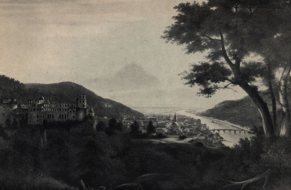 view of Heidelberg around 1818