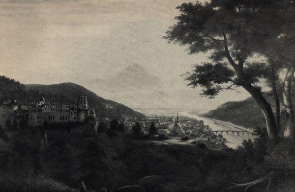 Vista de Heidelberg por volta de 1818