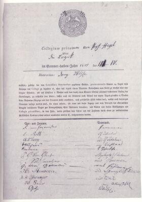 """Hoerliste"" em Jena de 1805"