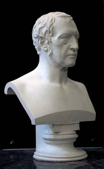 Hegel bust from the left