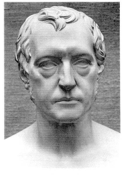 Hegel, plaster copy of original marble bust