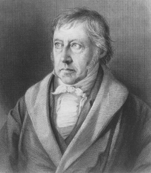 Hegel, Steel engraving by Lazarus Sichling