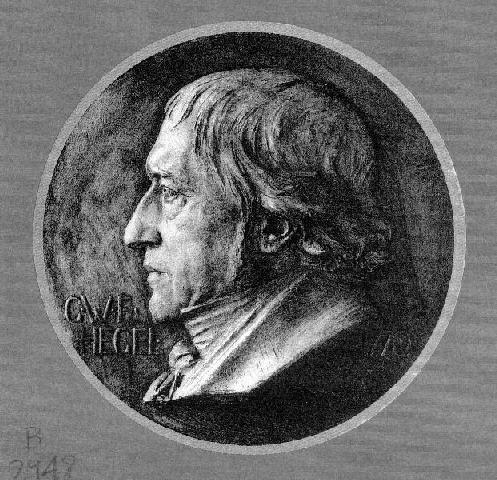 Hegel, Bronze plaque by Karl Donndorf