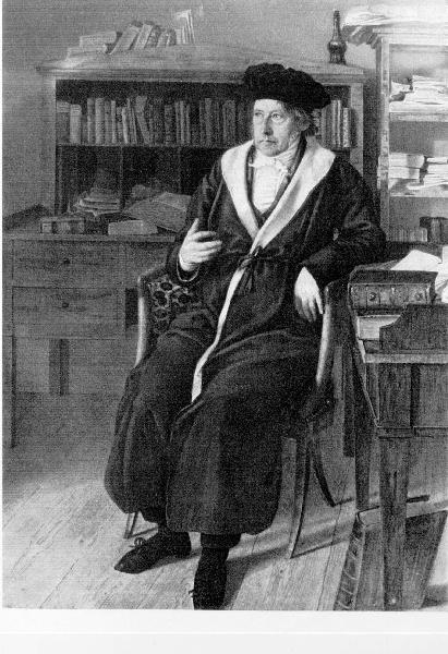 Hegel at age 58, aquarelle by Julius Sebbers