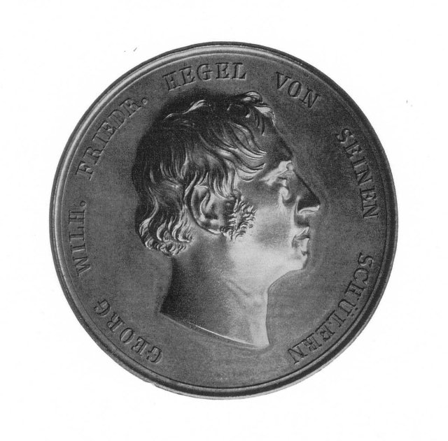 Hegel, medallion by August Held