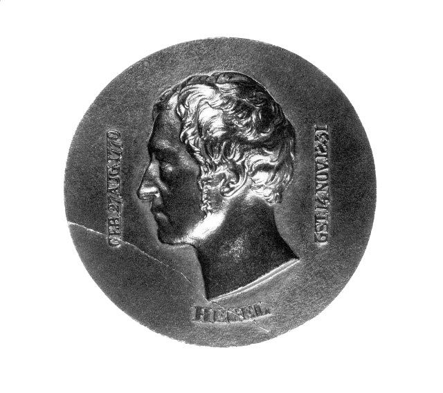 Hegel, cast iron relief by Karl Fischer