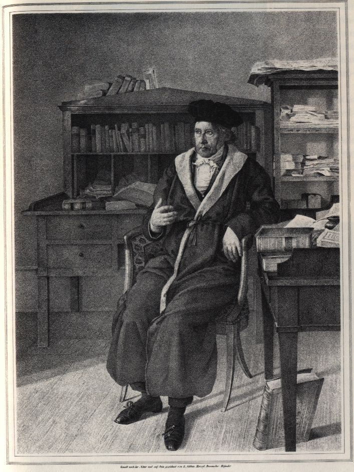 Hegel at age 58, lithography by Julius Sebbers